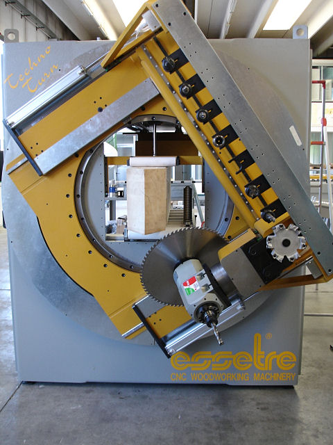 CNC Drilling Saw Unit End Timber Frame