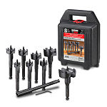 8-pce Contractor Kit of WoodOwl Self-Feed Wood Boring Bits