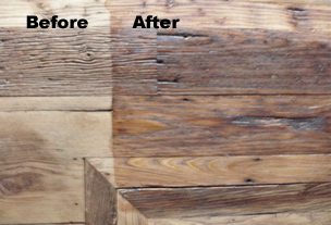 wood before and after treatment