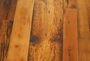 wooden floor with natural finish