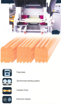 Profiled boards with Rekor f-4-sided planer